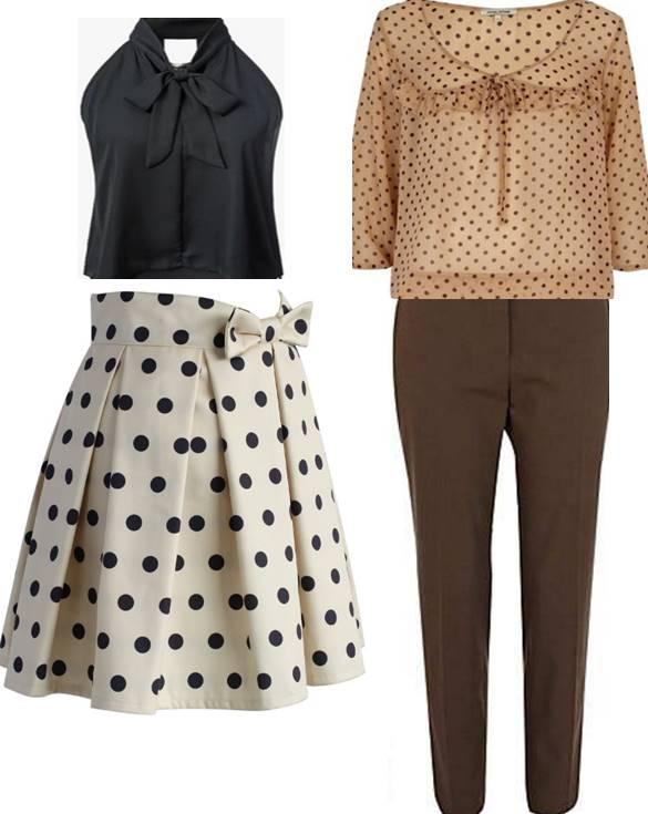 polka dots, trendy