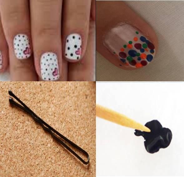 dots, nail art