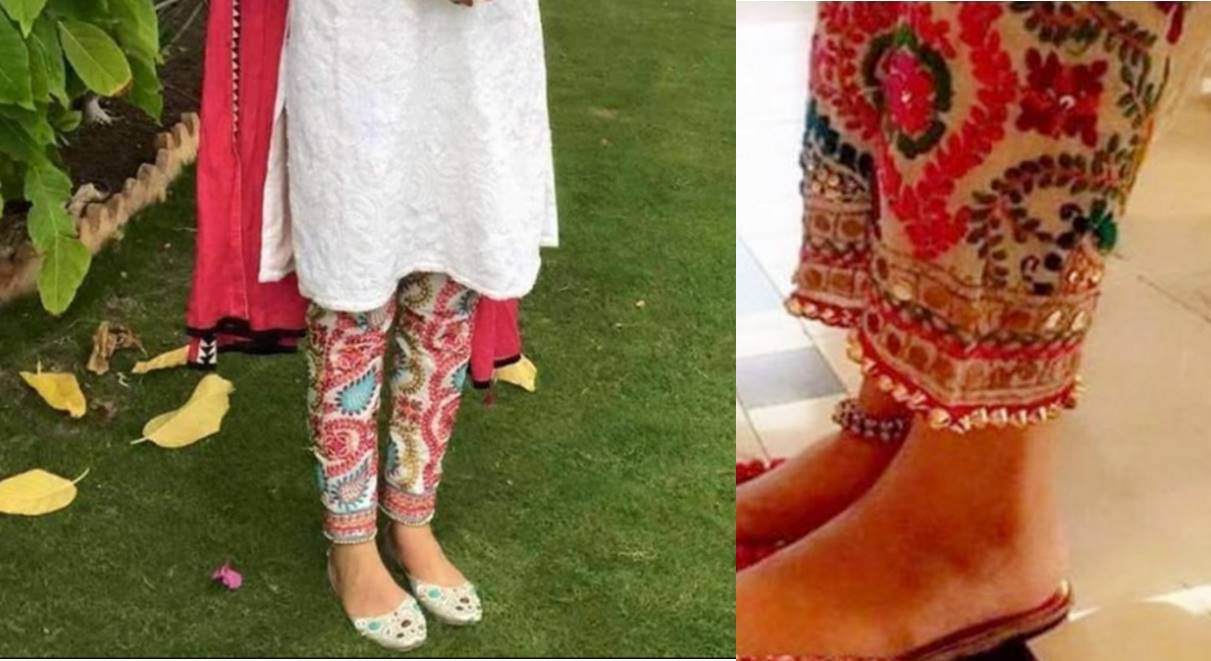 legwear, fashion, trendy, phulkari