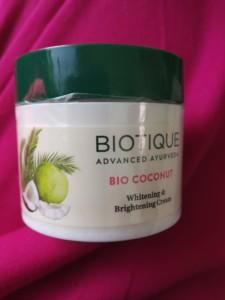 Biotique bio coconut whitening & brightening cream review