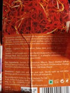 Vaadi saffron soap review